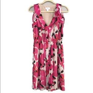 Ann Taylor LOFT Sleeveless Chiffon Ruffle Dress